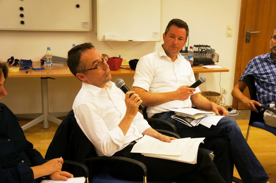Vortragende Tobias Utters und Gerd Modert