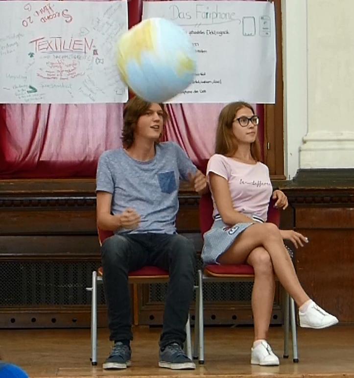 Klimaschutz und Schule in Deutschland und Russland - Umweltfragen auf die Bühne gebracht
